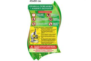 Безпека при роботі з мікроскопом, правила для учнів на лабораторних роботах з біології стенд