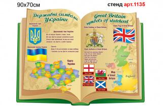 Символика Украины и символика Великобритании в кабинет английского