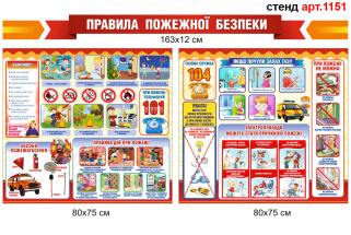 Правила пожежної безпеки для дітей стенд