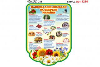 Стенд про національну символіку України, українські обереги.