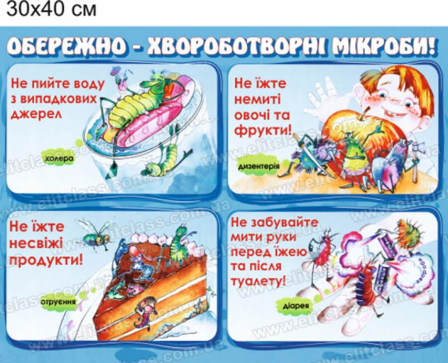 стенд з правилами гігієни, стенд у дитсадок, стенд по правилам гигиены, стенд в детский сад, стенд для детей, стенд для дітей