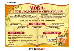 стенд в кабинет украинского языка, стенд в кабинет младших классов купить, стенд по украинскому языку, стенд в кабінет української мови, стенд в кабінет молодших класів купити, стенд з української мови