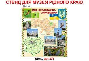 стенд моя родина, стенд про родной город, стенд с картой Украины картой области и фотографиями достопримечательностей города, стенд моя батьківщина, стенд про рідне місто, стенд з картою України картою області і фотографіями пам'яток міста
