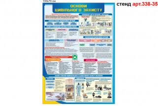 Цивільний захист універсальний стенд для підприємств, організацій, кабінету захист України.