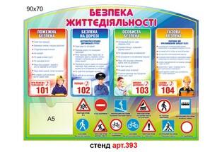 """""""Безпека життєдіяльності"""" стенд №393"""
