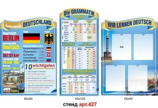 стенд для кабинета немецкого языка фигурные, стенд для кабінету німецької мови фігурні