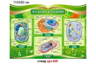 стенд строение клетки, стенд в кабинет биологии фигурный, стенд будова клітини, стенд в кабінет біології фігурний
