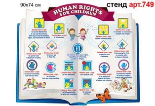 права ребенка стенд на английском, права дитини з малюнками