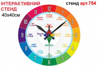 часы на английском языке, часы в кабинет английского