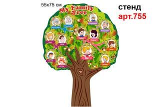 семейное дерево в кабинет английского, family tree,