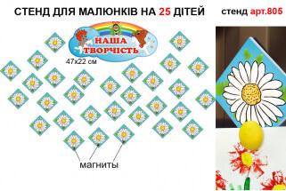 держатели для рисунков магнитный стенд, стенд магнітні тримачі для малюнків пластикові в групу ромашка