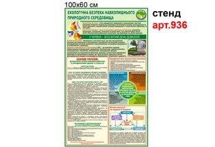 Стенд по экологической безопасности 60х100 см