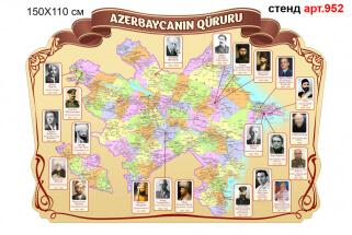 Видатні особистості Азербайджану стенд
