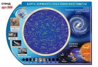 карта зоряного неба стенд по астрономії