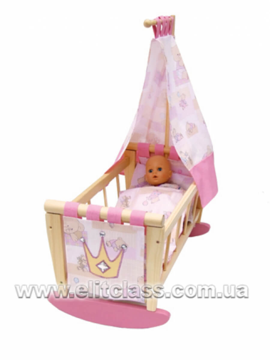 кроватка с балдахином для куклы