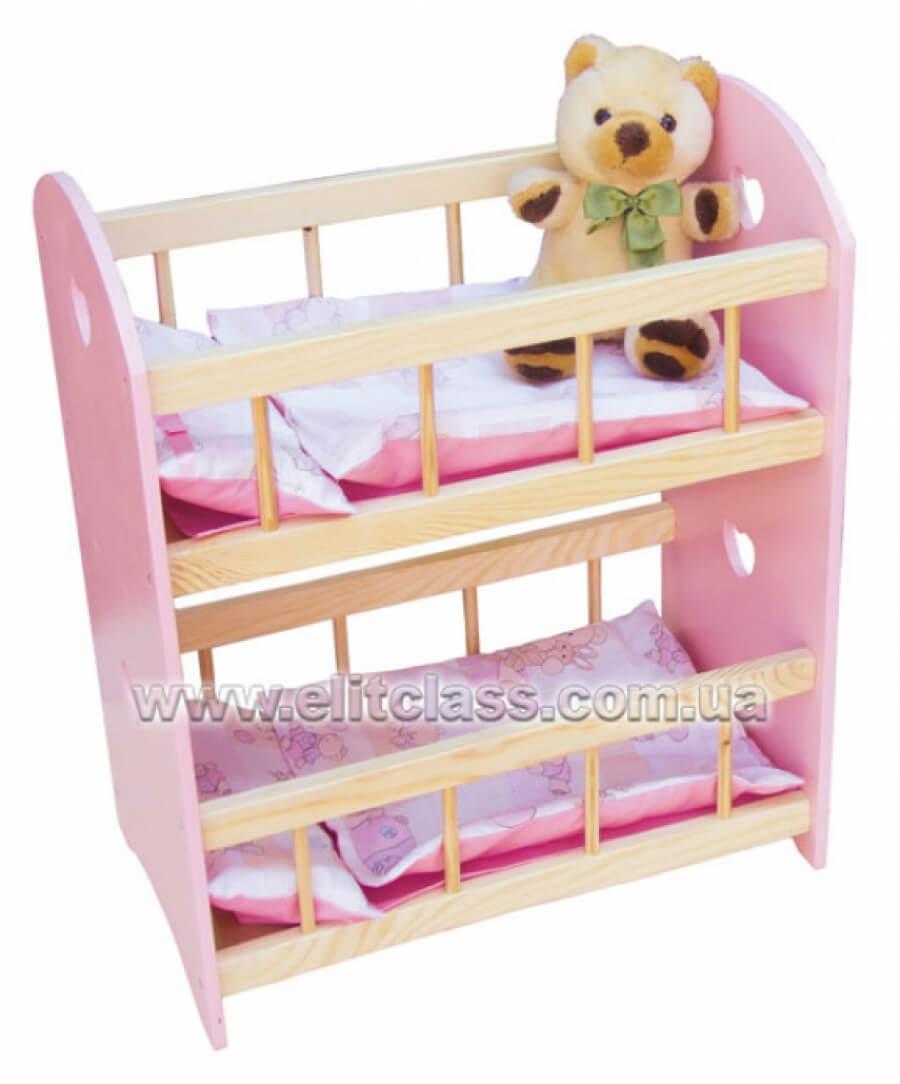 """Кровать для куклы двухъярусная """"Сандра"""""""