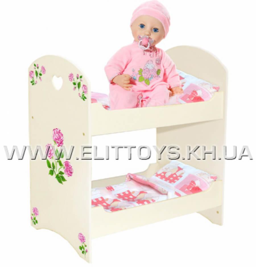 "Кровать для куклы двухъярусная ""Алиса"""