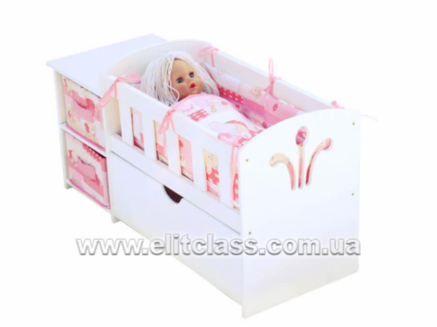 """Кукольная кровать с тумбой """"Анна"""""""