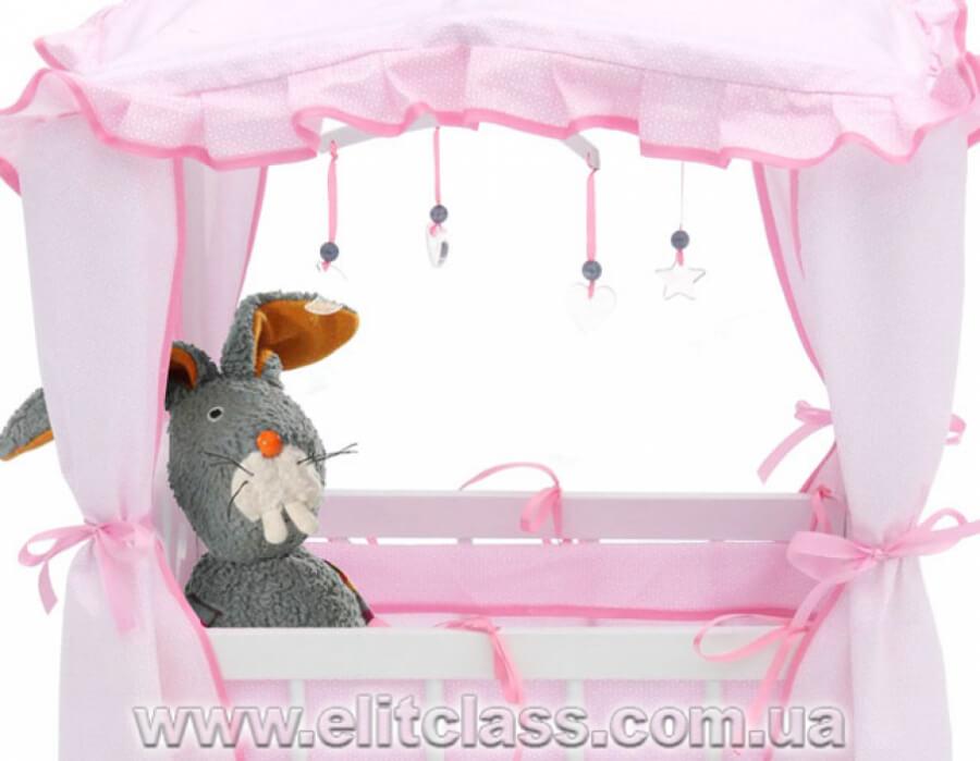 """Кровать для куклы с балдахином """"Марианна"""""""