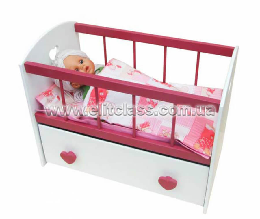 """Кровать кукольная с ящиком """"Софи"""""""