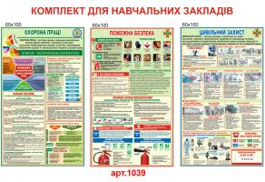 Охрана труда, гражданская защита, пожарная безопасность комплект стендов №1039