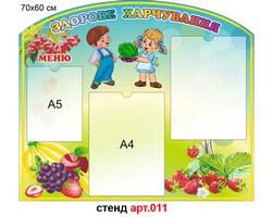 """""""Здорове харчування"""" стенд для харчоблоку №11"""