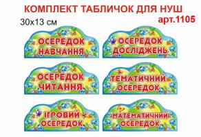 """""""Осередки НУШ"""" комплект табличек №1105"""