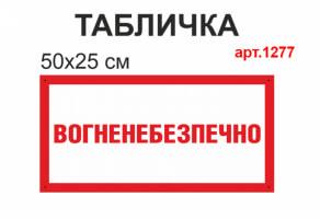 """Табличка """"Вогненебезпечно"""" №1277"""