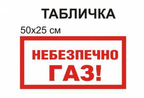 "Табличка ""Небезпечно газ!"" №1288"