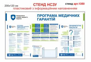 """Стенд """"Програма медичних гарантій"""" с плакатами (пластиковый) №1350"""