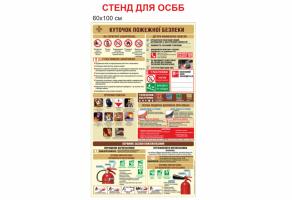 Уголок пожарной безопасности для ОСМД стенд №1459
