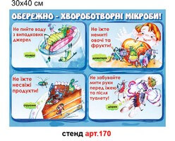 """""""Обережно - хвороботворчі мікроби"""" стенд №17"""