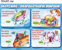"""""""Осторожно - болезнетворные микробы"""" стенд №17"""