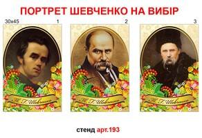 Портрет Шевченко 30х45 см №193