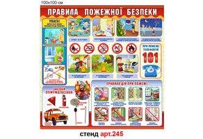 """Правила пожежної безпеки"" стенд №245"