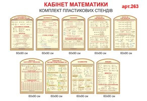 Стенды по математике №263