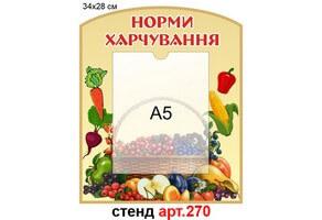 """""""Норми харчування"""" стенд №270"""