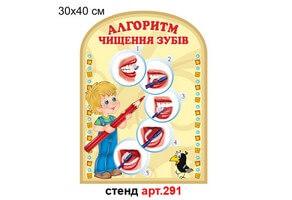 """""""Алгоритм чистки зубов"""" стенд №291"""