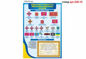 Стенд 10: Військова присяга і  символіка України №338-10