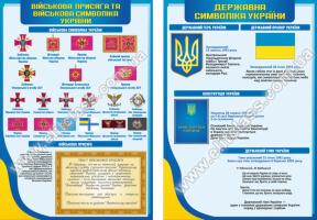 """Комплект стендов в кабинет """"Захист вітчизни"""" 9 шт №338-К9"""