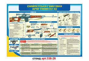 Стенд 26: Снайперська гвинтівка Драгунова №338-26