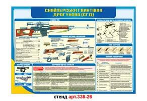 Стенд 26: Снайперская винтовка Драгунова №338-26