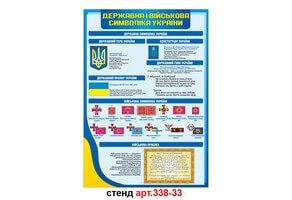 Стенд 33: Державна і військова символіка України та військова присяга №338-33