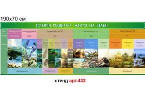 """Стенд """"Історія розвитку життя на Землі"""" №432"""
