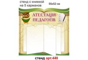 Атестація педагогів стенд з книжкою №440