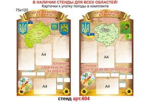 Краеведческий уголок в кабинет географии №604