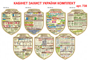 """Кабинет """"Защита Украины"""" комплект стендов 7 шт №738"""