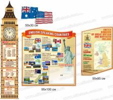 біг-бен, стенд англомовні країни, карта великої британії, стенд про велику британію на англійській, числівники стенд в кабінет англійської,