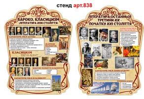 література 20 -21 століття, література барокко, класицизму
