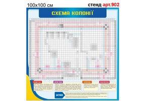 """""""Схема колонії"""" стенд №902"""